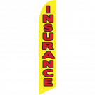 Insurance feather flag yellow