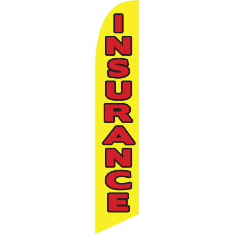 Insurance feather flag yellow width=