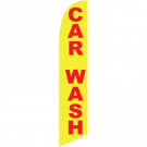 Car Wash feather flag yellow