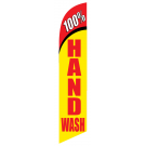100 percent Hand Wash feather flag
