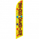 Grand Opening Feather Flag yellow 12ft Poly Knit