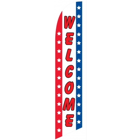 Welcome feather flag width=
