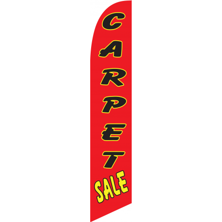 Carpet Sale Feather Flag Red 12ft Poly Knit width=
