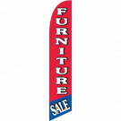 Furniture Sale Feather Flag Red & Blue 12ft Poly Knit
