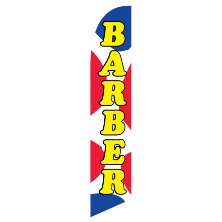 Barber new feather flag width=