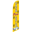 Cash for Gold Feather Flag Yellow 12ft Poly Knit