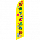 DayCare Feather Flag Yellow 12ft Poly Knit