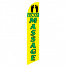 Foot Massage Feather Flag Yellow & Green 12ft Poly Knit