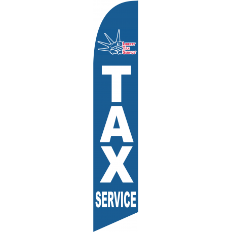 Liberty tax blue feather flag width=