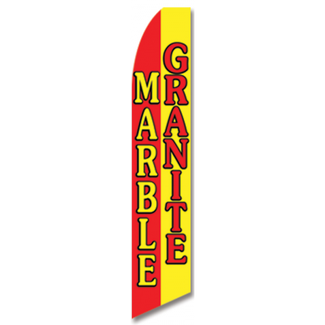 Marble granite feather flag width=