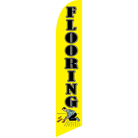 Flooring Feather Flag Yellow 12ft Poly Knit width=