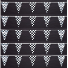 Checkered Poly Triangle Pennant 100'