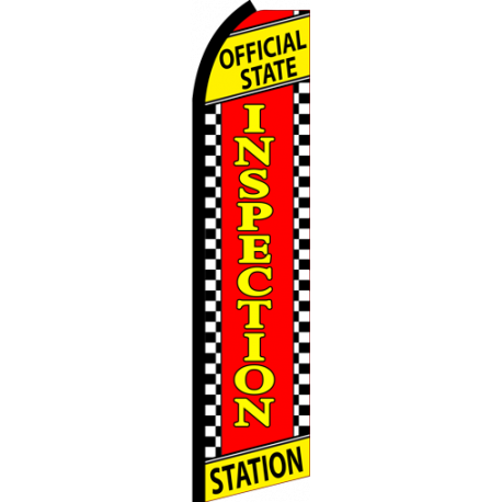 State Inspection Station Swooper Flag width=