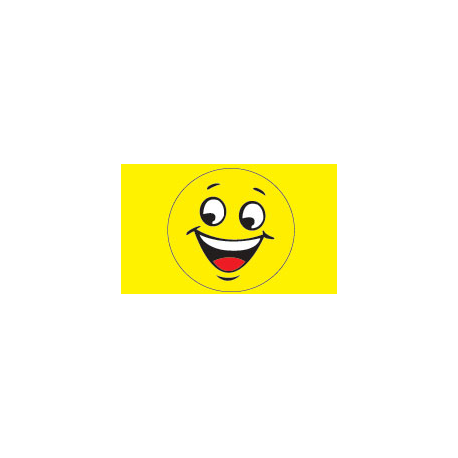 Happy Face Flag 3x5 yellow width=