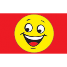 Happy Face Flag 3x5 yellow-red