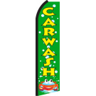 Car Wash Green Swooper Flag